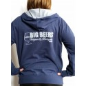 Unisex Blue Zip Hooded Sweatshirt