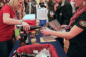 Pouring Beer Sample at the 2013 Commercial Tasting