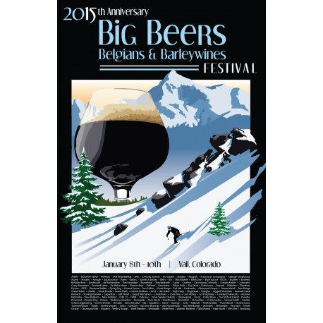 2015 Big Beers Festival Poster (WITH Breweries)