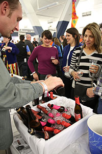 Pouring Beer at the Commercial Tasting