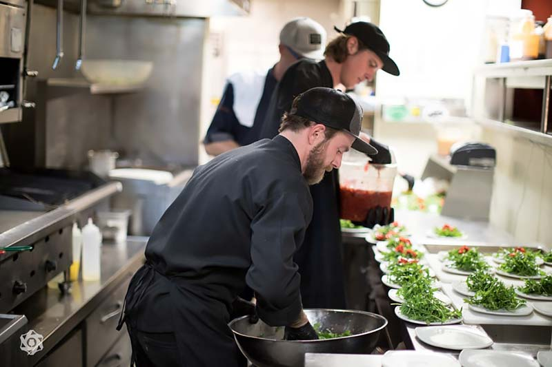 2018 Calibration Dinner Chefs at Work