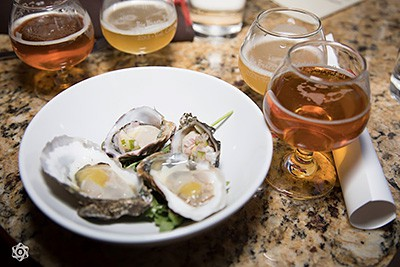 Small plates: oysters paired with beer