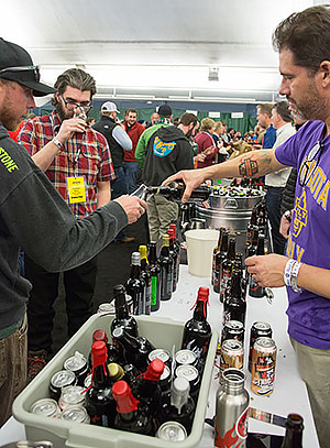 beer festival pouring beer