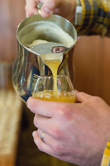 pouring weldworks beer